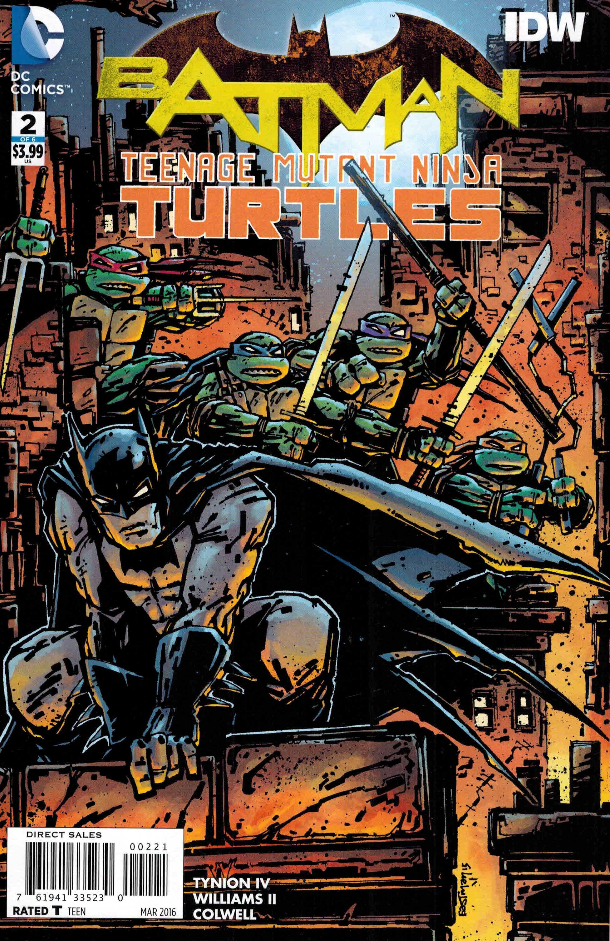 Batman Teenage Mutant Ninja Turtles II #2 Eastman 1st Print Comic